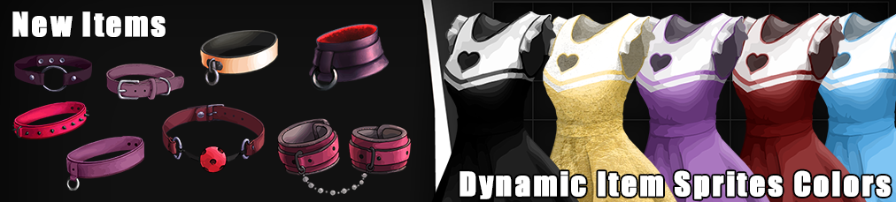 New items and dynamic item sprites colors